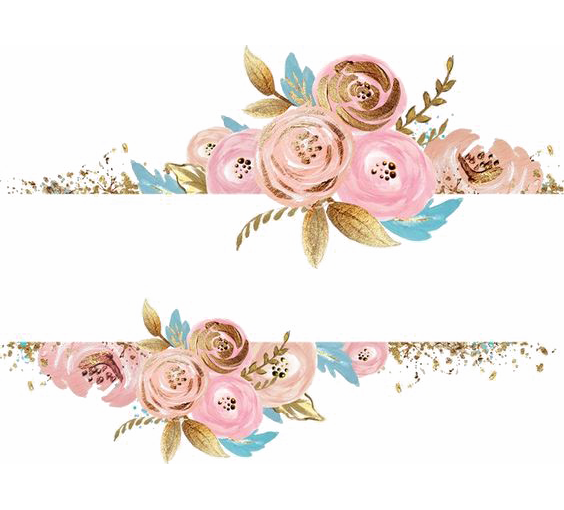 Rose gold flower png. Pink flowers dress rectangular