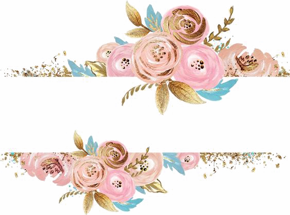 Rose gold flower png. Download pink flowers dress