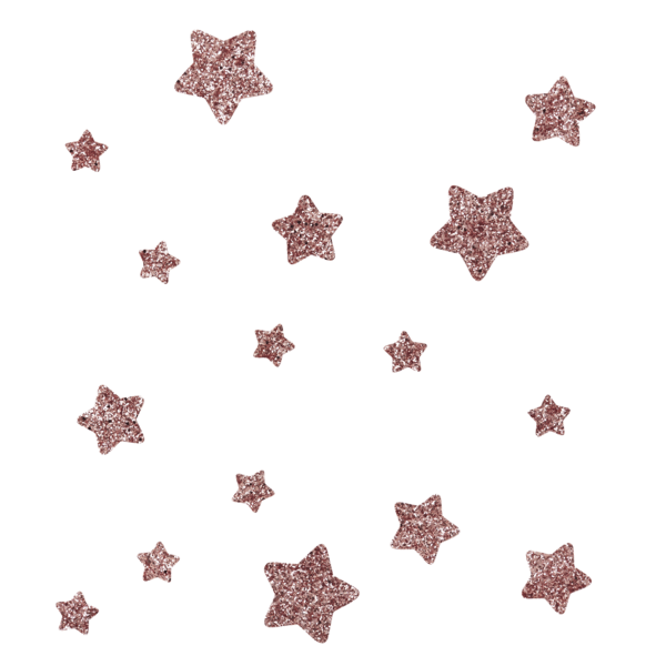 Rose gold glitter png. Star wall stickers little