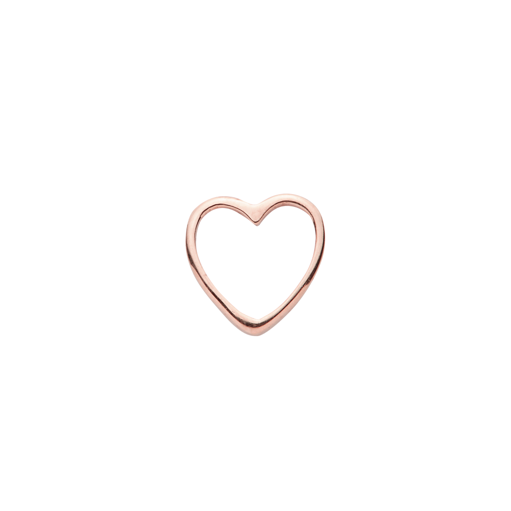 Heart, png rose gold. Heart charm by loquet