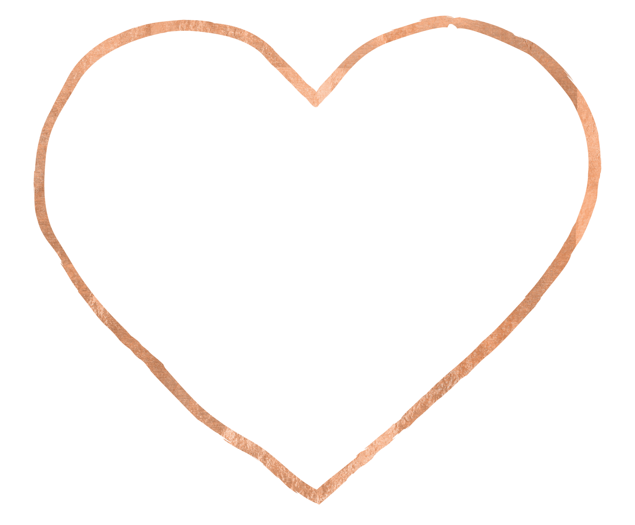 Heart, png rose gold. Keeping your heart open
