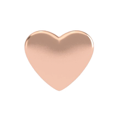 Heart, png rose gold. Solid heart charm love