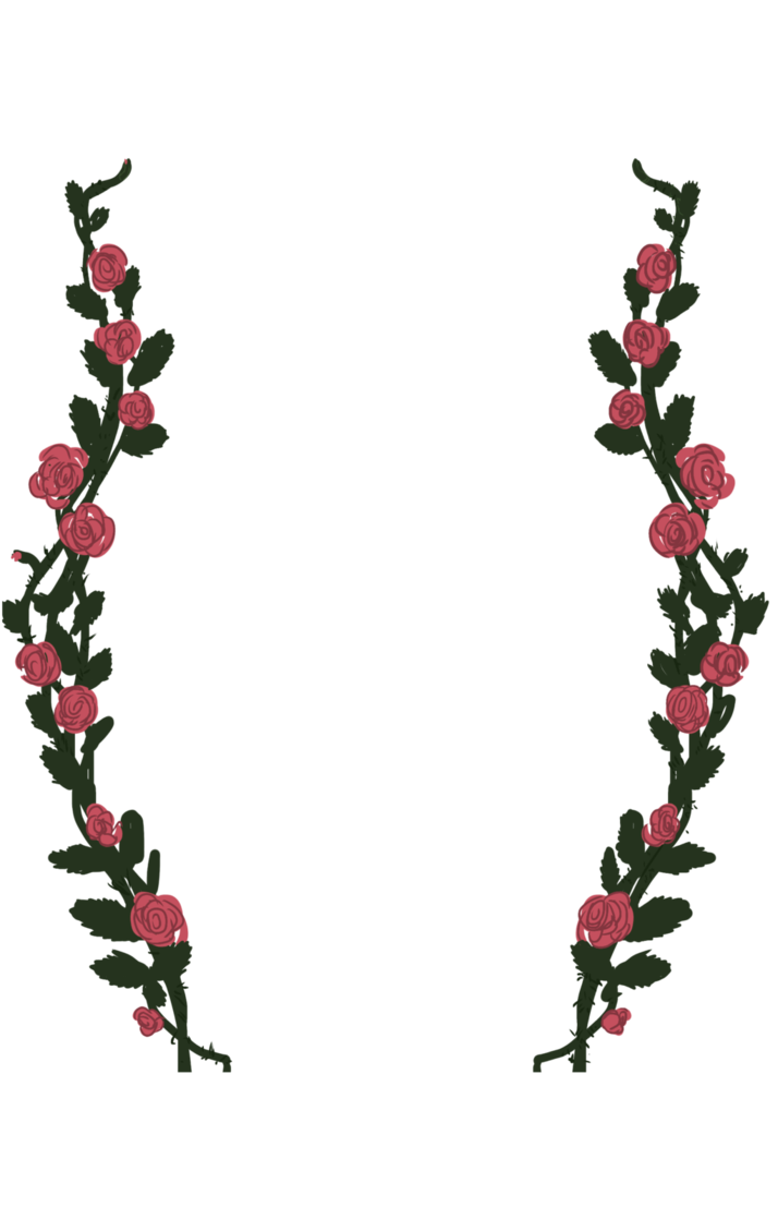 Rose vines png. By trillion souls on