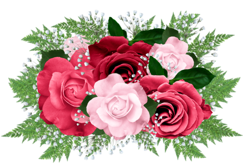 Roses clipart bed. Of rose bouquet flowers