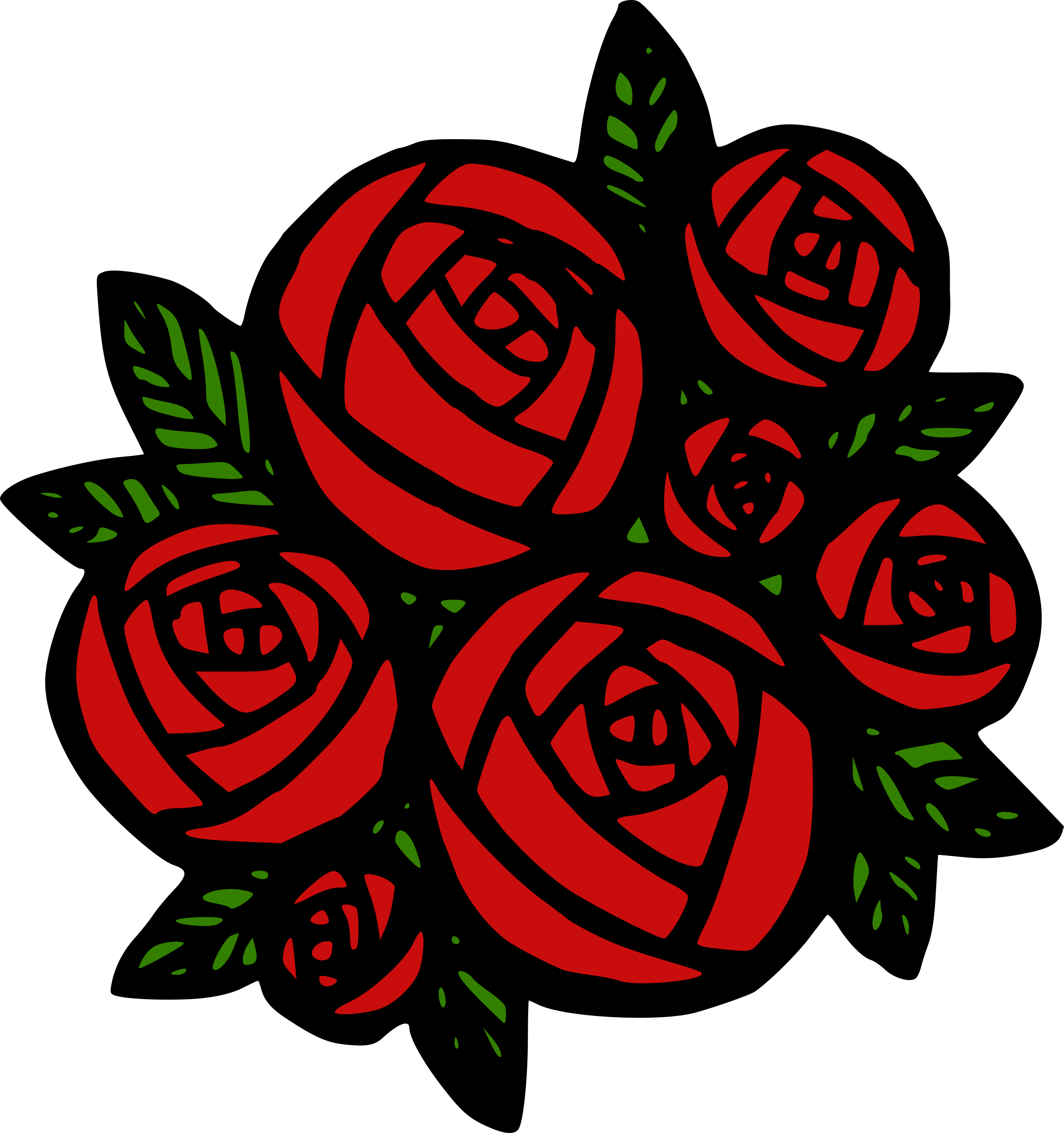 Roses clipart bunch. Of red big image