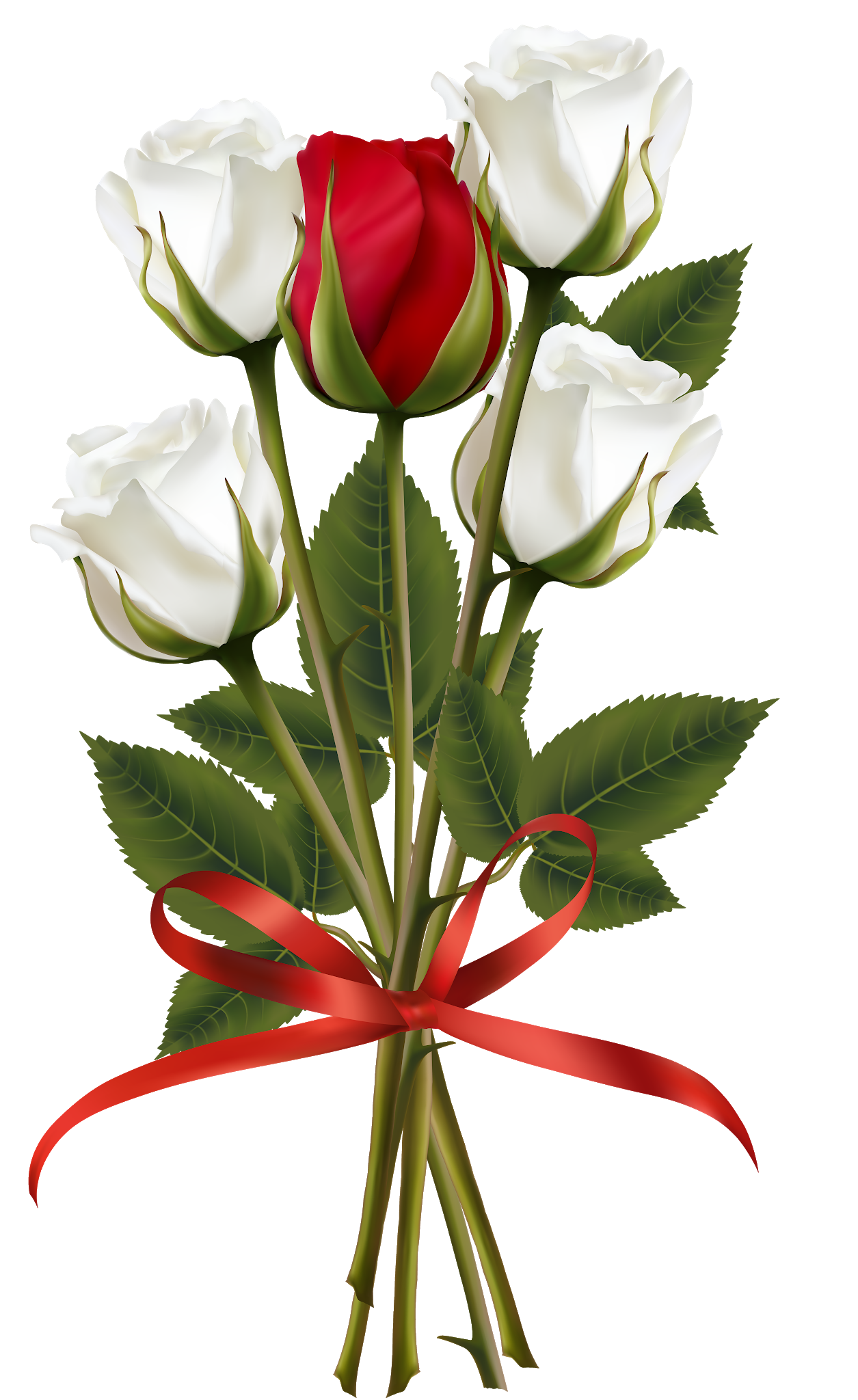 Roses clipart bunch. Flower bouquet rose red
