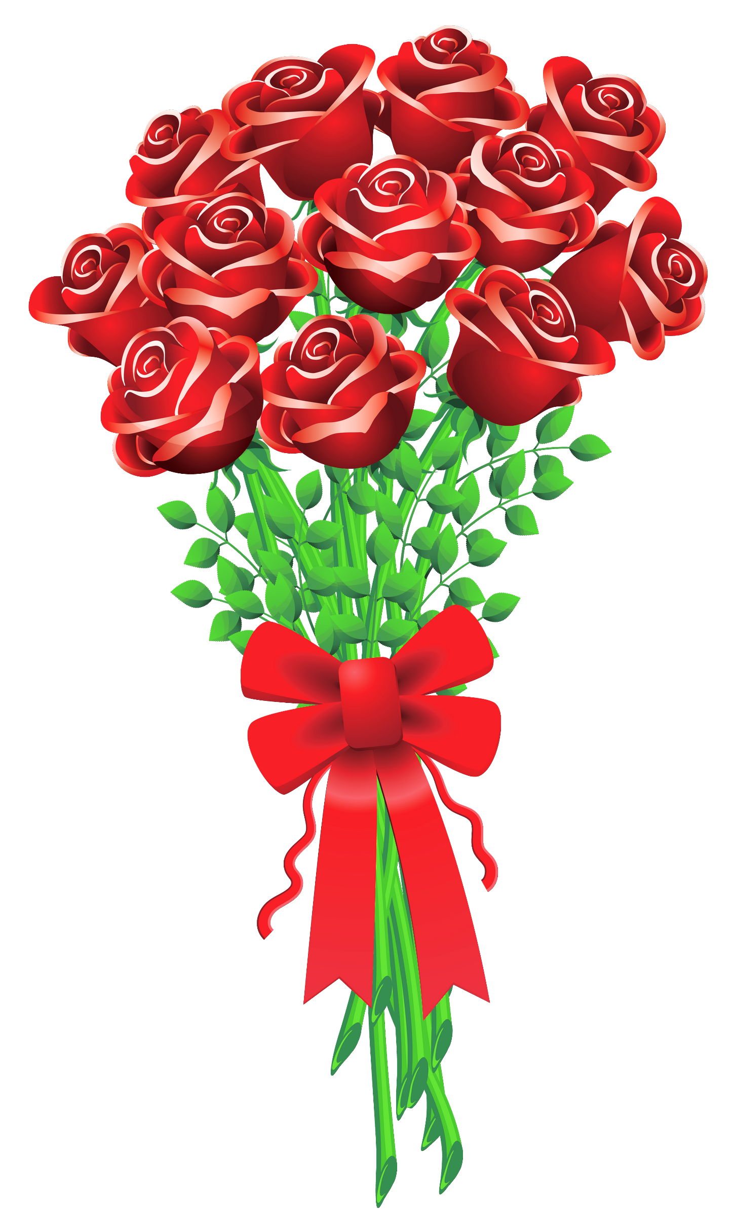Roses clipart bunch. Of