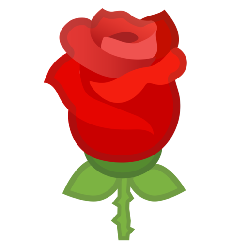 Roses clipart emoji. Google android pie