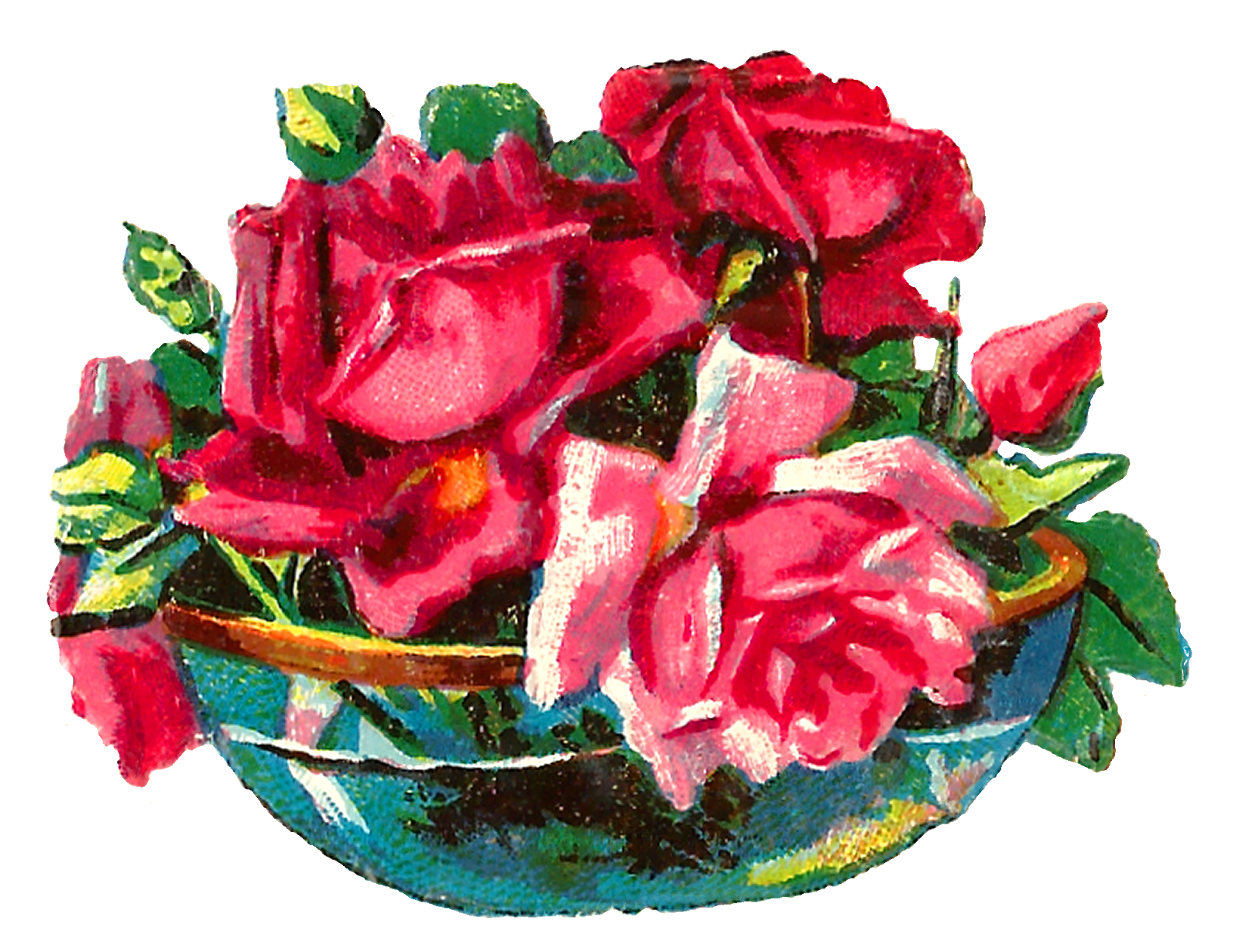 Roses clipart shabby chic. Antique images pink rose