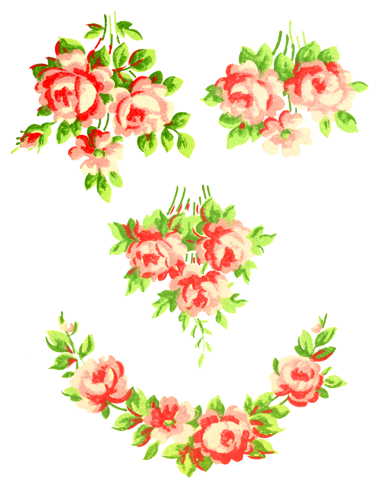 Roses clipart shabby chic. Antique images free digital