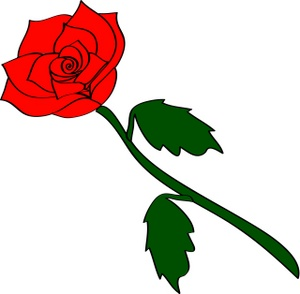 Roses clipart stick. Red rose at getdrawings
