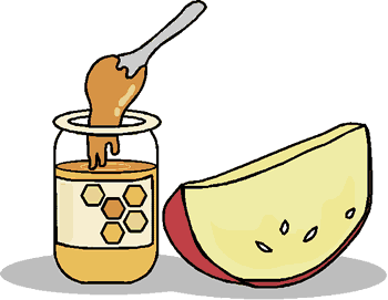 Rosh hashanah clipart apple honey. How is celebrated