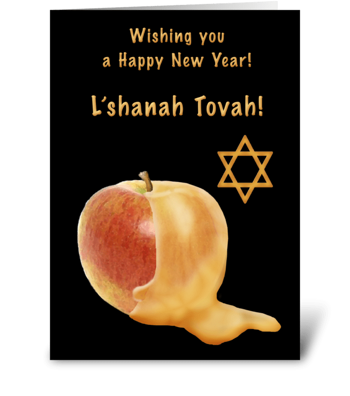 Rosh hashanah clipart apple honey. Send this greeting card