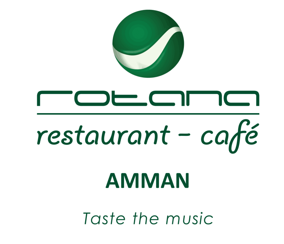 Cafe amman middle east. Rotana clip logo graphic stock