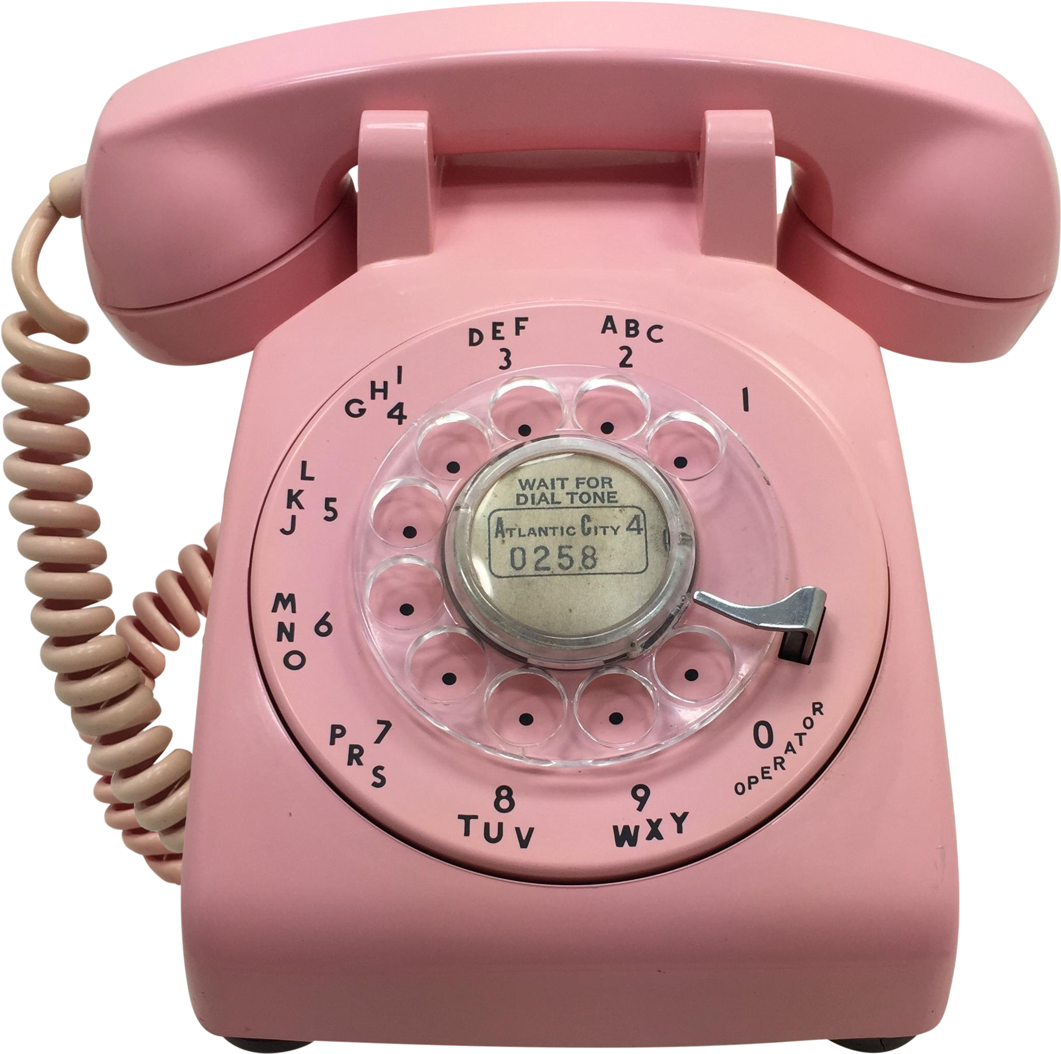 Telephone transparent pink. Download date matched rotary