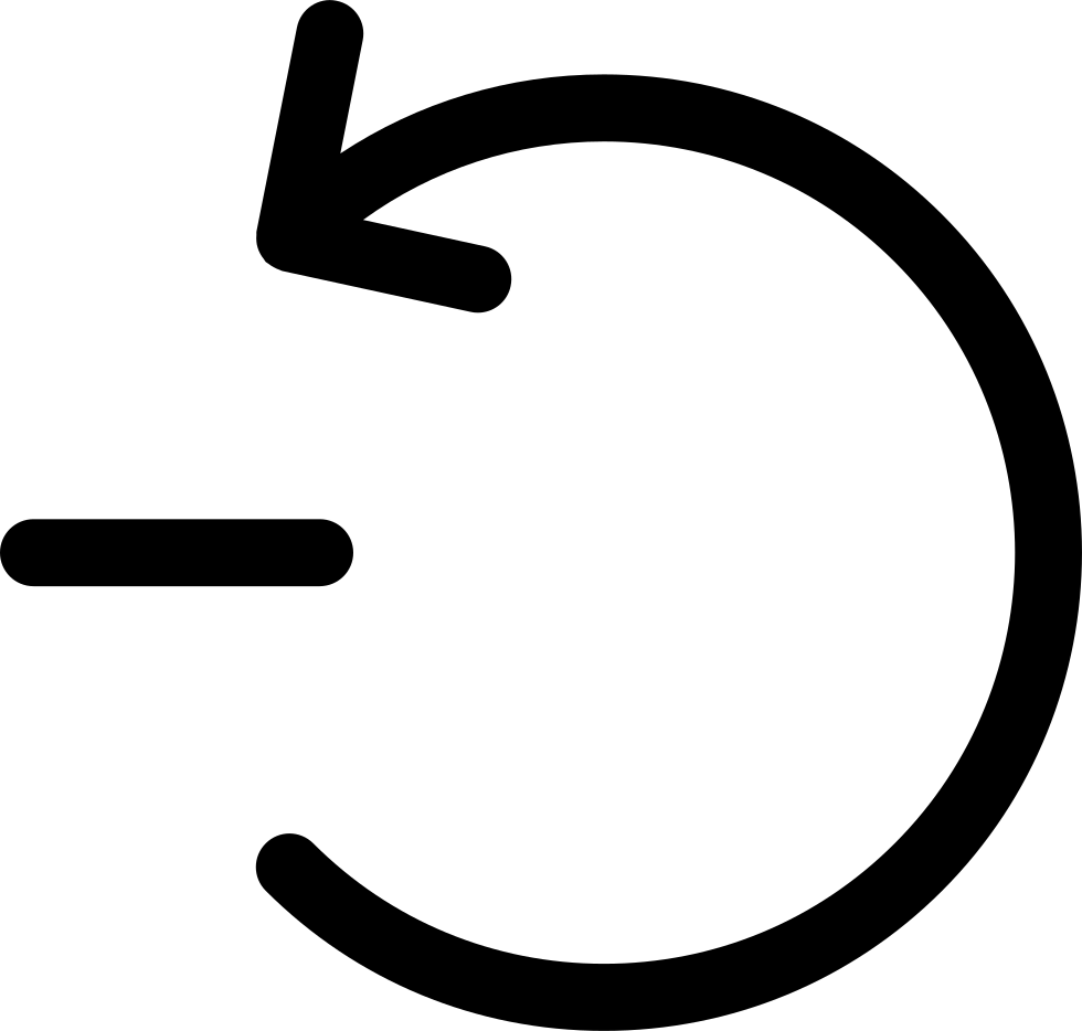Rotating arrow png. Counterclockwise circular with minus