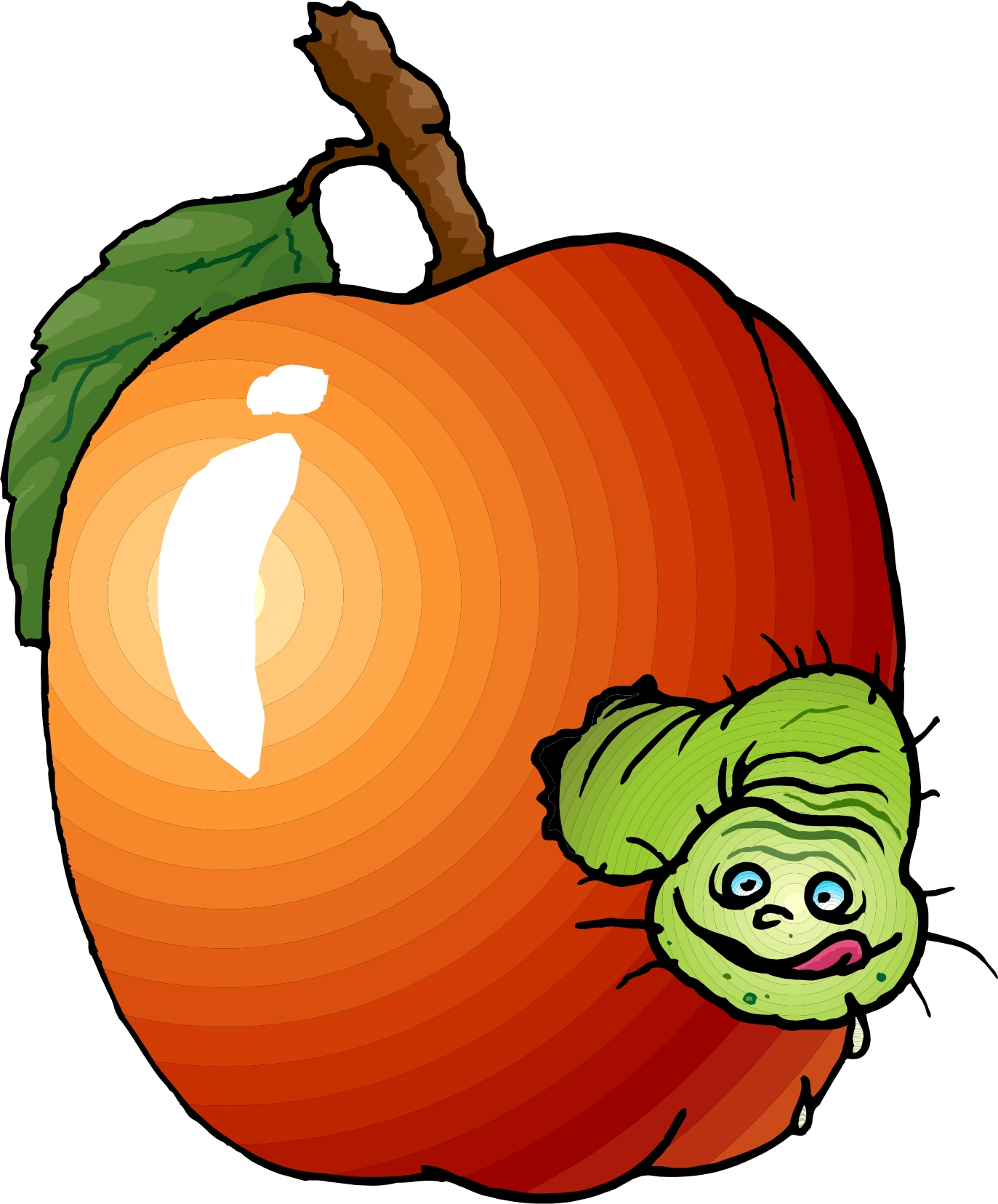 Rotten grapefruit. Collection of orchard clipart
