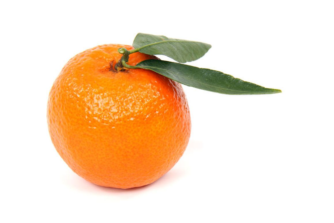 Rotten orange. Artificial vision used to