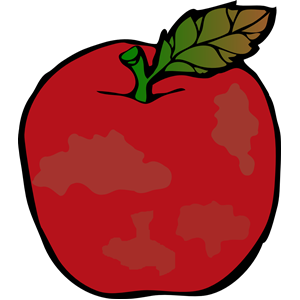 Rotten strawberry. Apple clipart cliparts of