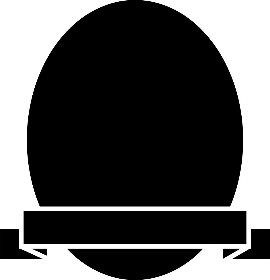 Round banner shapes png. Shield of oval shape