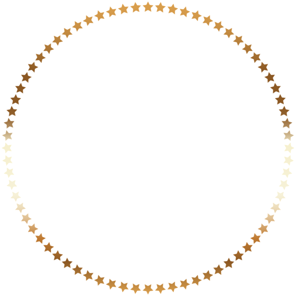 Png pearl borders. Stars round border frame