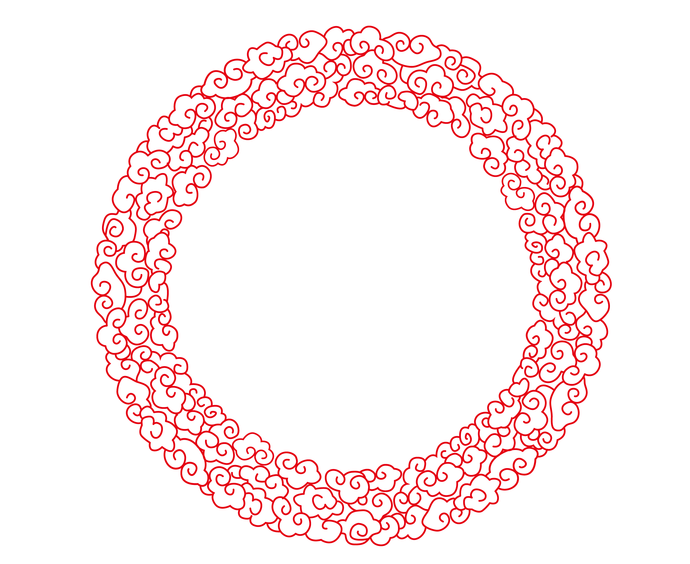 Chinese clouds png. Circle euclidean vector style