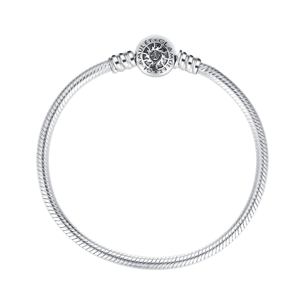 Sterling silver round classic. Bracelet clip svg transparent library