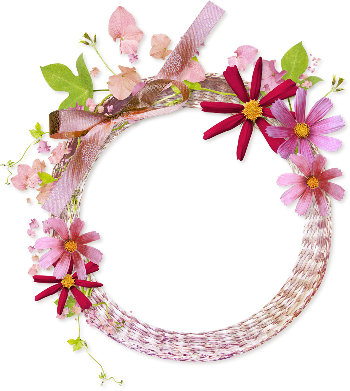 pink round frame png