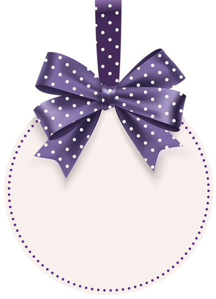Round label png. With bow template clip