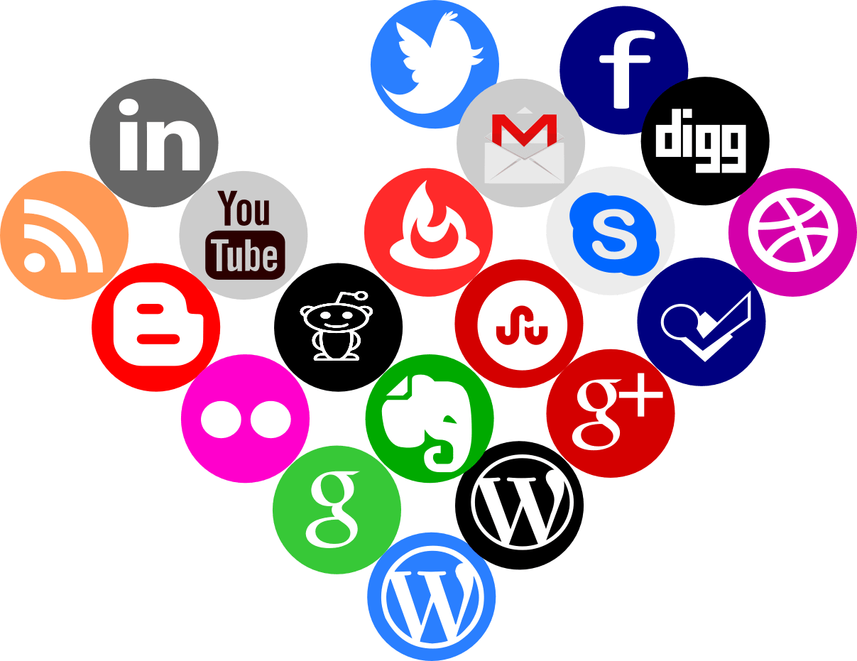 Round social media icons png. Icon pack