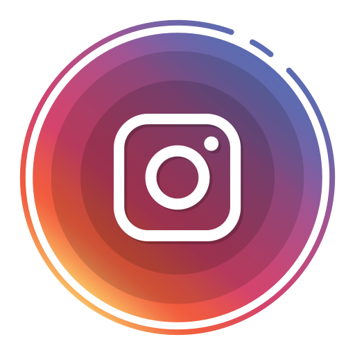 Round social media icons png. Instagram icon size