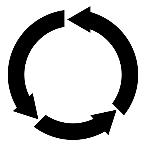 Arrow circle png. Round recycled transparent svg