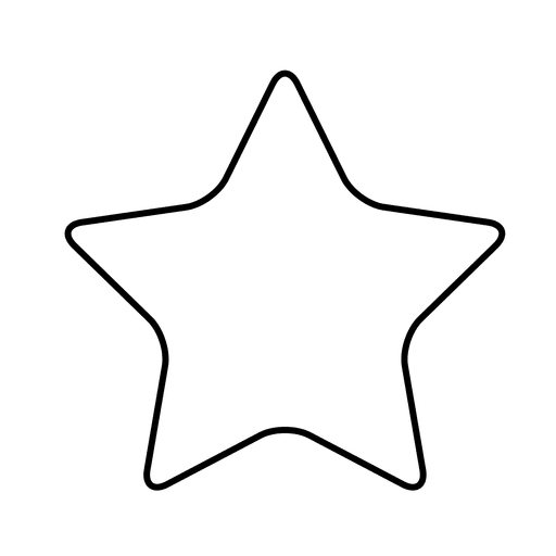 Svg star. Rounded transparent png vector