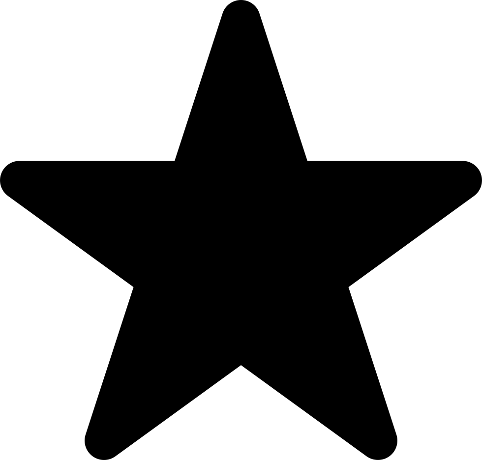 Rounded star png. Shape svg icon free