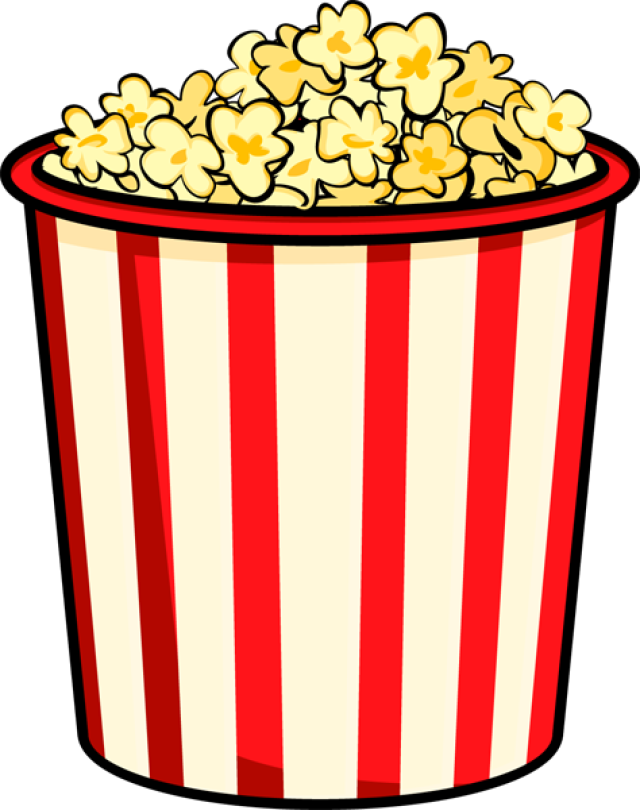 Row clipart and popcorn. Transparent alternative design graphic