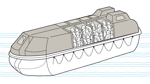 Row clipart lifeboat. The evolution of cond