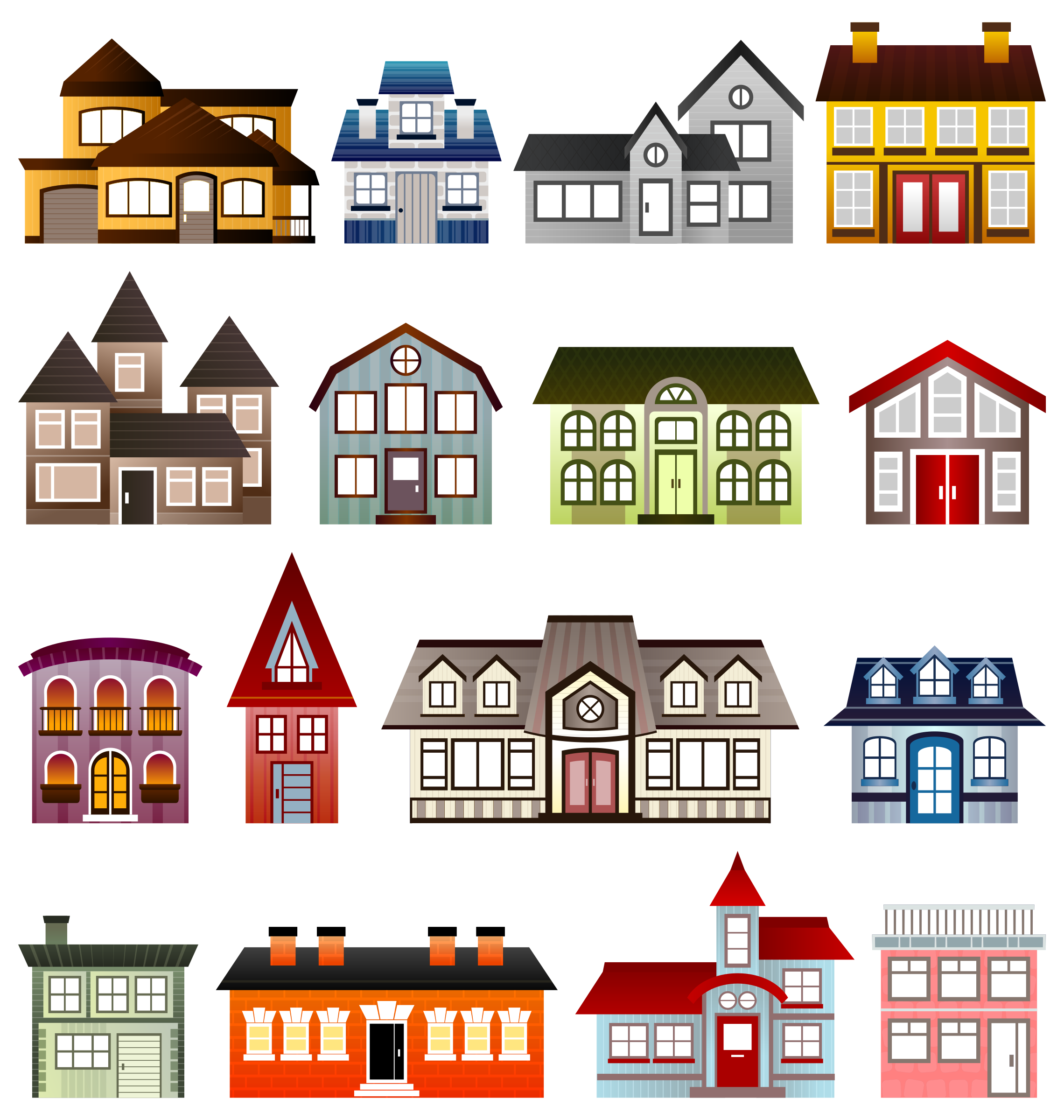 Row clipart property. Clip art of homes