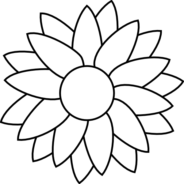 Row clipart sunflower. Coloring pages to print