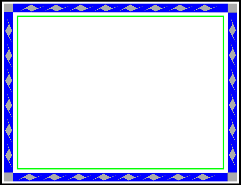 Colorful frames and borders png. Free blue download clip