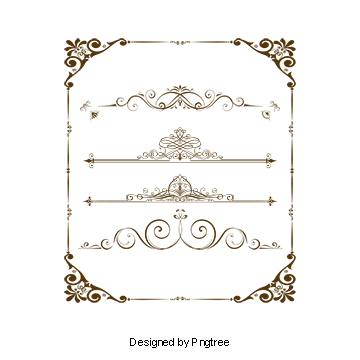 Royal border png. Vectors psd and clipart