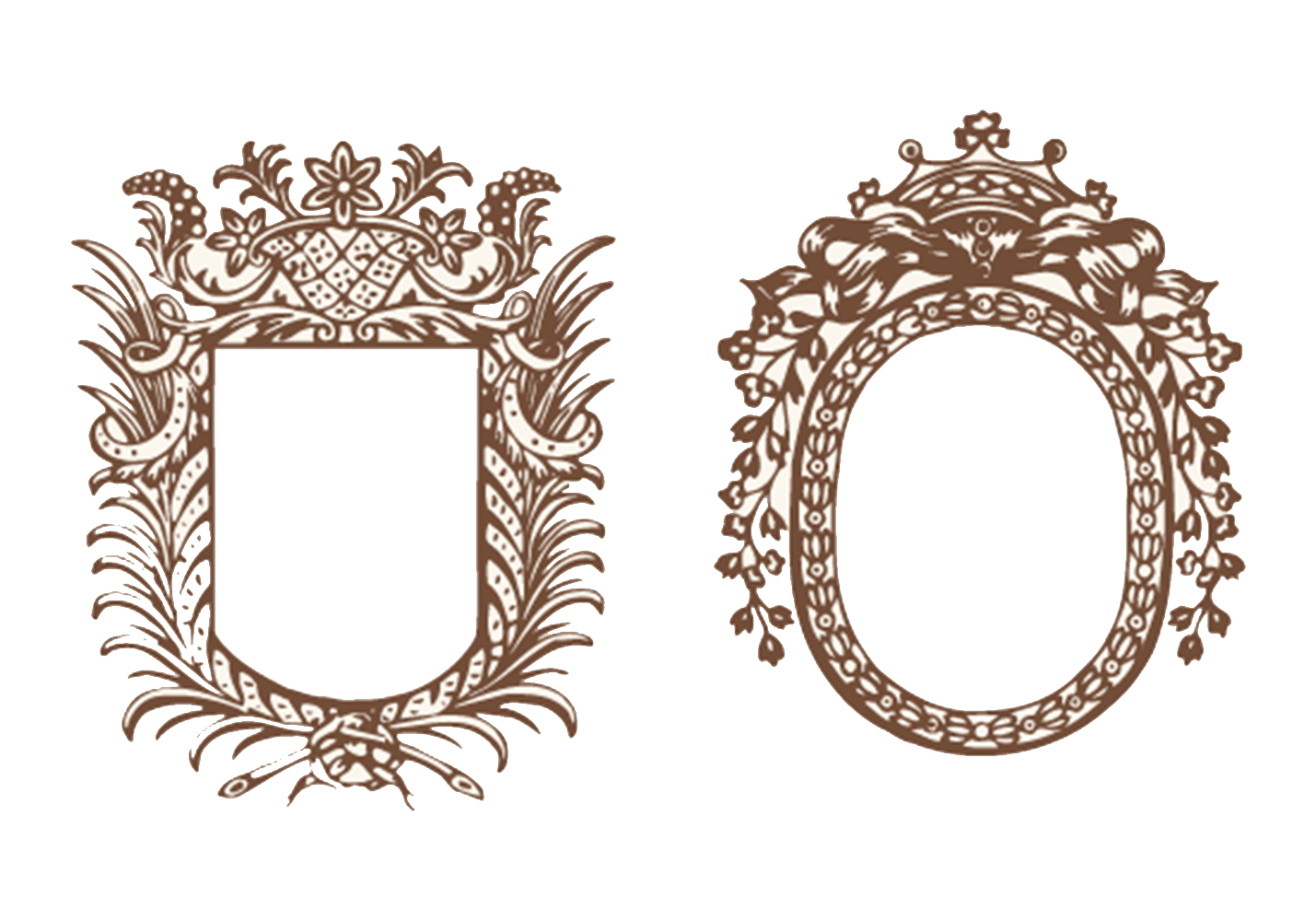 Royal vector mirror. Motif icon border transprent