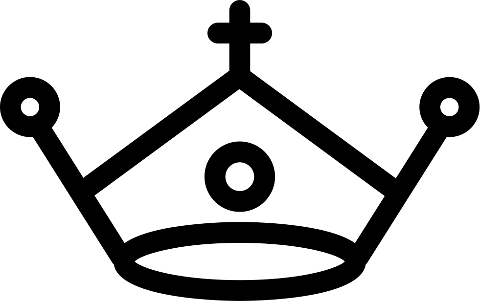 Royal drawing cross. Crown with a svg