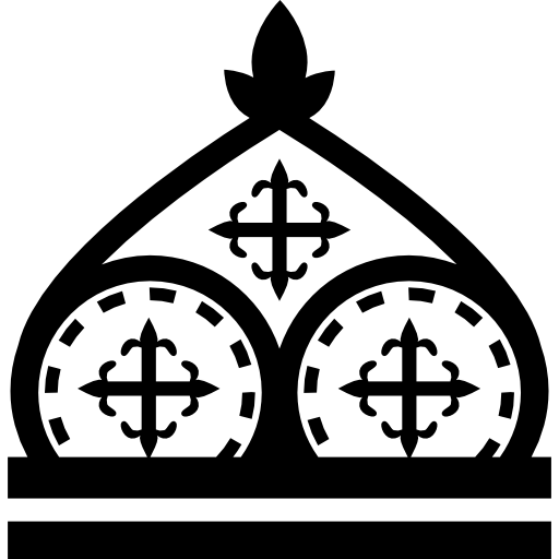 Royal drawing cross. Crown icon page png
