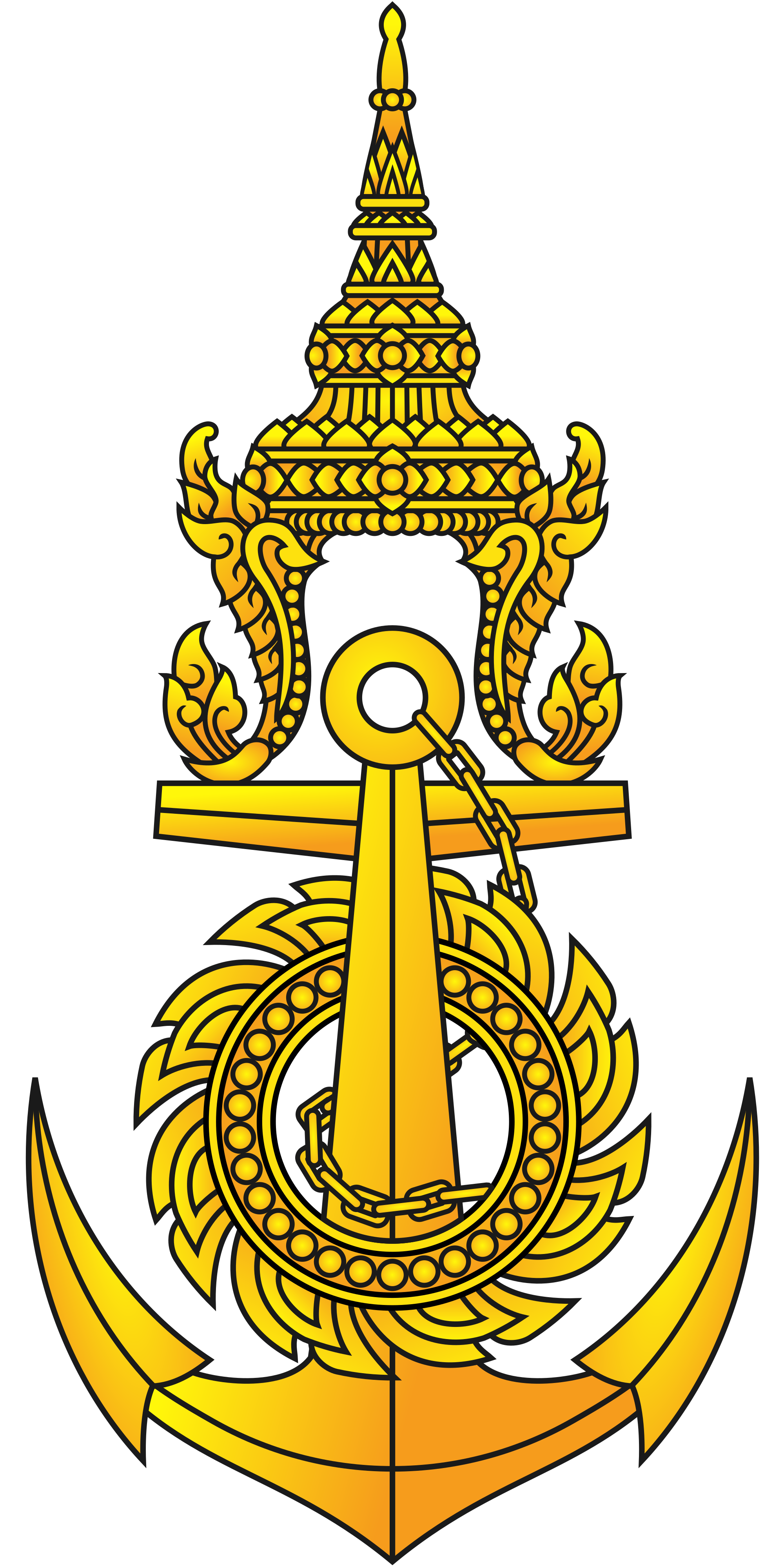 Royal drawing navy seal. Thai wikipedia emblem of