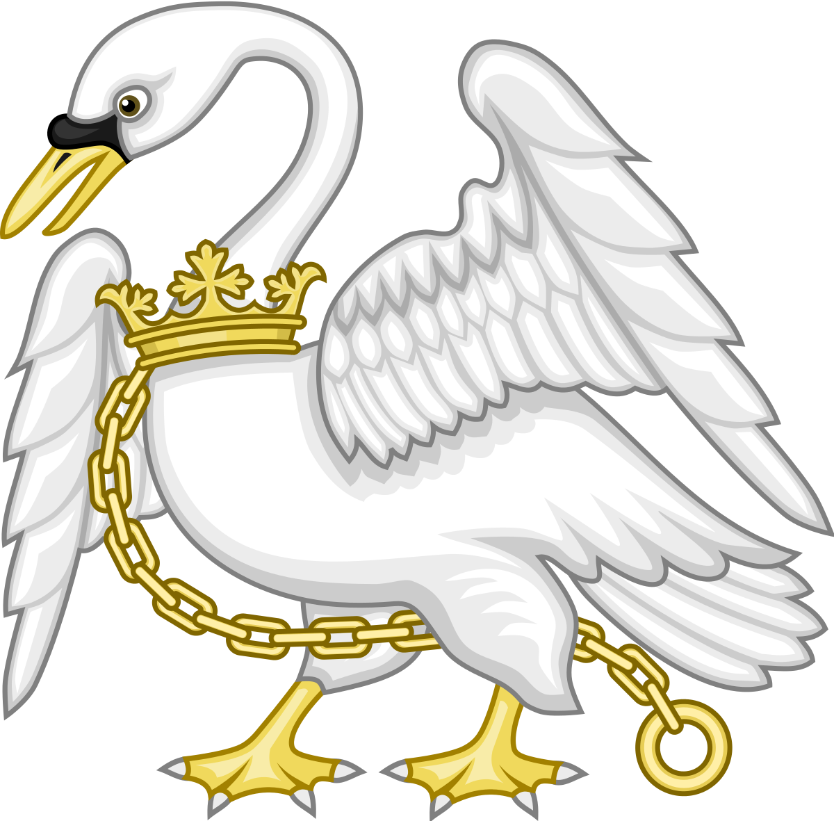 Royal drawing swan