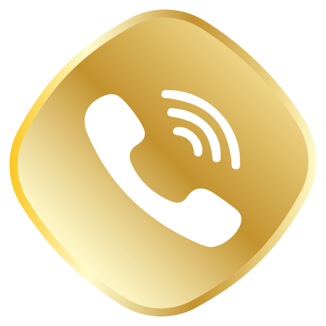 Whatsapp vector icon. Golden call royal set
