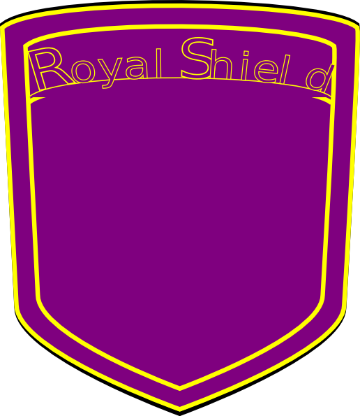 Royal vector blank. Shield soccer clip art