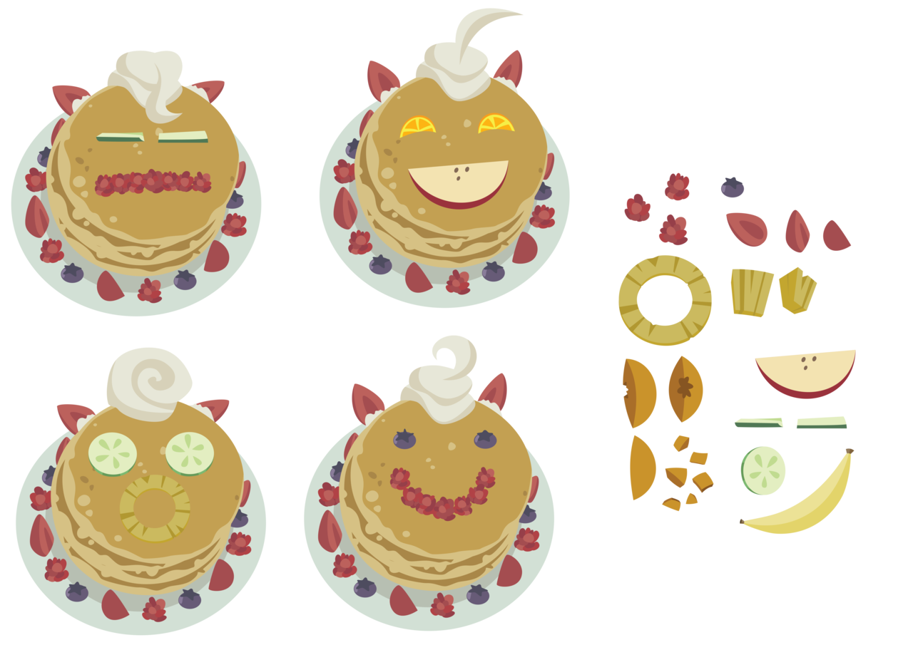 Pancakes vector transparent. Absurd res ai
