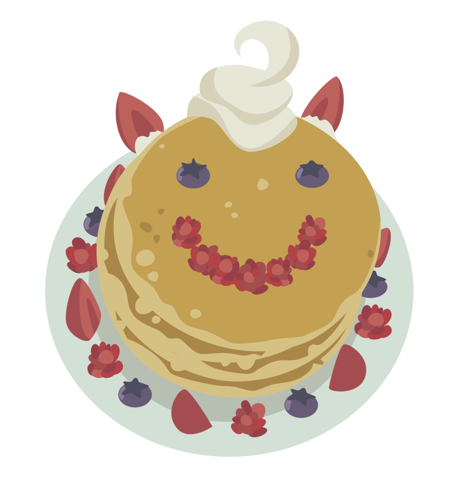 Transparent pancakes above. Absurd res a