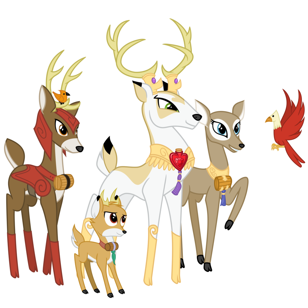 Royal vector deer. Absurd res artist